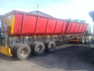 Intact side tipper trailers.